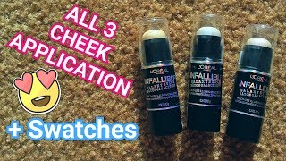 L'Oreal Infallible GALAXY STICKS Try On + Swatches!!