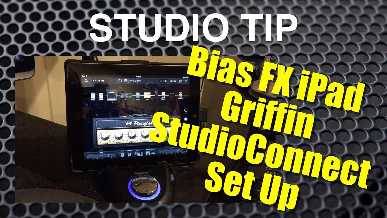 Bias FX iPad Griffin StudioConnect Set Up