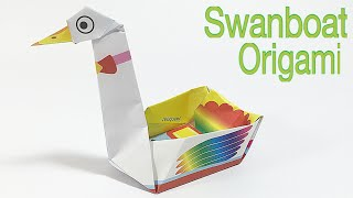 SWANBOAT TUTORIAL | EASY SHIP ORIGAMI