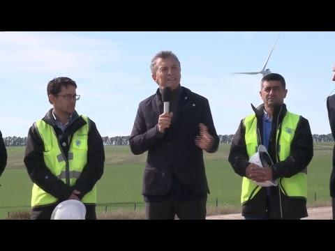 El presidente Macri participó de la inauguración del Parque Eólico Bahía Blanca