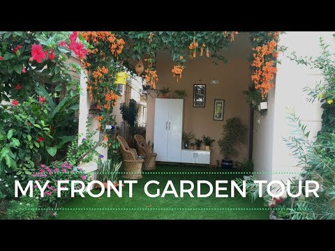 My Front Garden Tour || Porch Tour || Indian small Garden Tour- Backyard Gardening