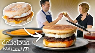 Bu Şef Yeniden McDonald's Sosis & Yumurta Keki Tarifi yaratabilir mi? | lezzetli. Avustralya