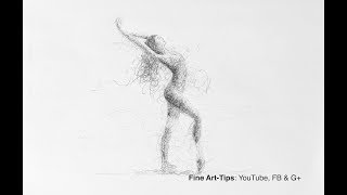 How to Draw a Doodling Sketch of a Ballerina (Woman) - Narrated