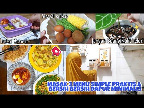 rutinitas-pagi-|-masak-3-menu-simple-praktis-|-bekal-makan-suami-|-bersih-bersih-dapur-minimalis