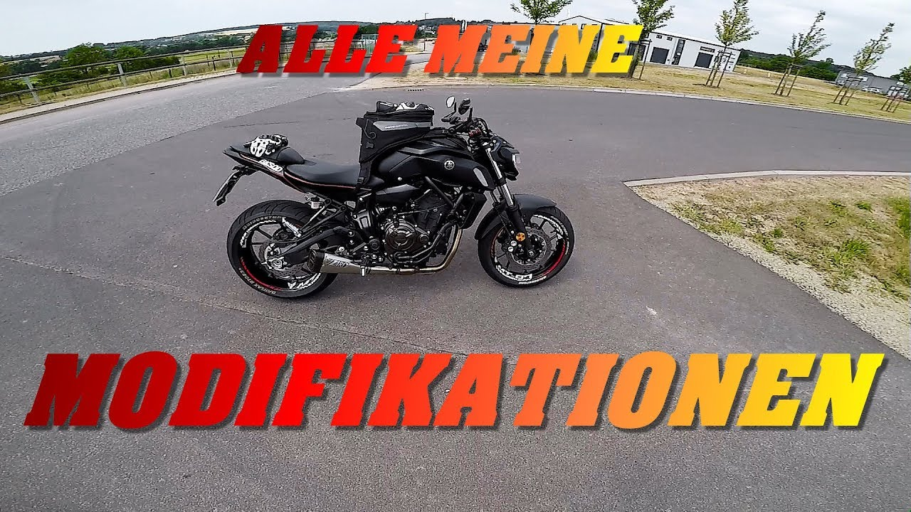 yamaha mt 07 2018 tuning alle modifikationen youtube. Black Bedroom Furniture Sets. Home Design Ideas