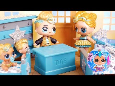 Masquerade Barbie Family DIY LOL Family Custom Fun Bed With Food