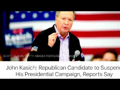 John Kasich Suspends Presidential Campaign 5-04-2016
