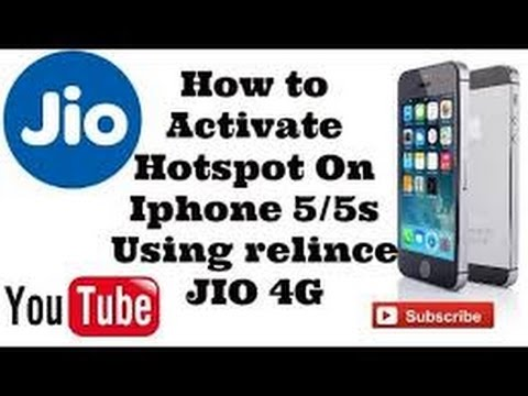 how to enable hotspot in iphone 5s with jio sim