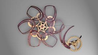 Merlot - A Kinetic Wooden Sculpture