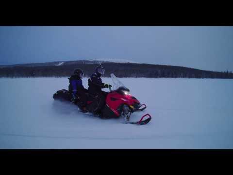 Snowmobile Ride In Levi, Northern Finland