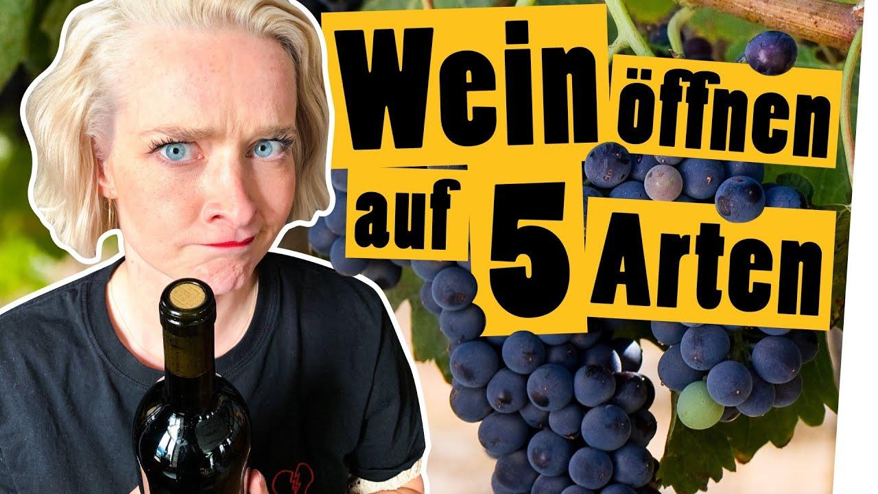 Challenge: Weinflasche öffnen ohne Korkenzieher || Das schaffst du nie!