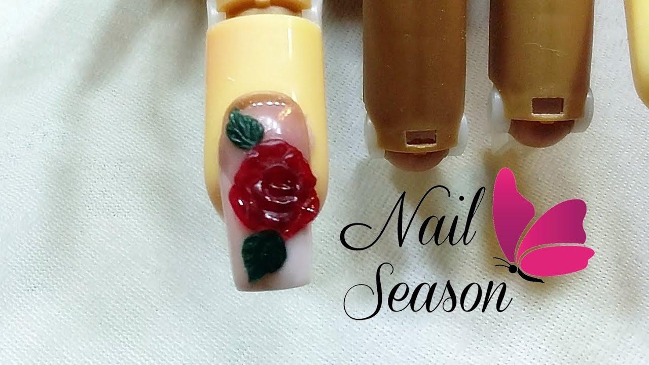 Decoracion de uñas mexicanas paso a paso. Como hacer rosa 3d en uñas ...