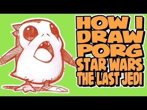 How I Draw Porg | Star Wars: The Last Jedi