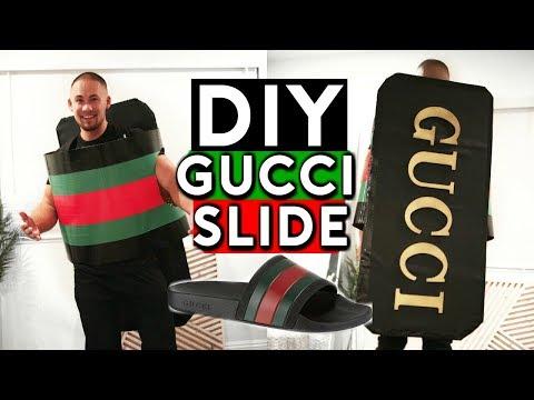 DIY GUCCI FLIP FLOPS HALLOWEEN COSTUME