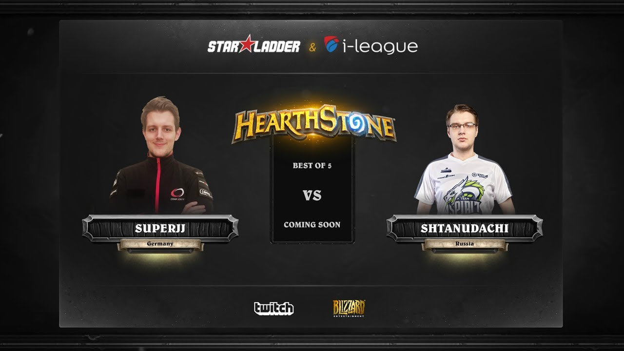 [EN] SuperJJ vs ShtanUdachi | SL i-League Hearthstone StarSeries Season 3 (26.05.2017)