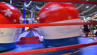 Kids fun ride at Chicago Navy Pier - Winter Wonderfest - Tilt-a-Whirl