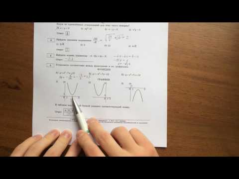 🔴 Модуль Алгебра ОГЭ 2016 математика (вар 1). Ященко 36 вариантов
