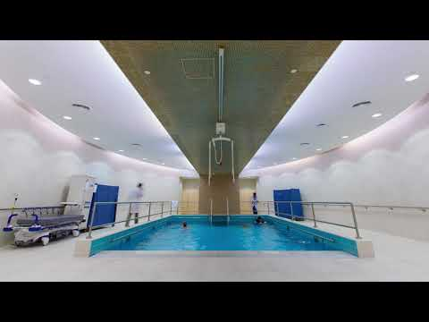 The Qatar Rehabilitation Institute's ultra-modern hydrotherapy pools