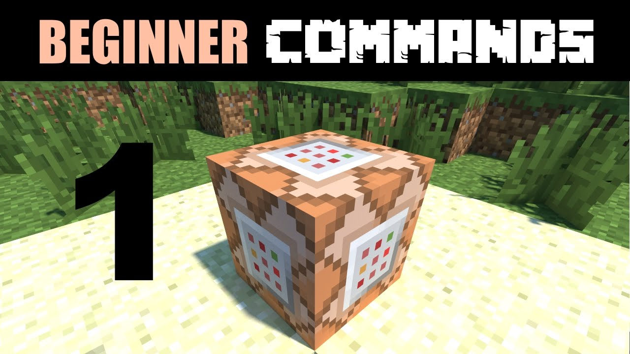 Beginner Command Block Tutorial Part 12 - How to Get and Use a Command Block