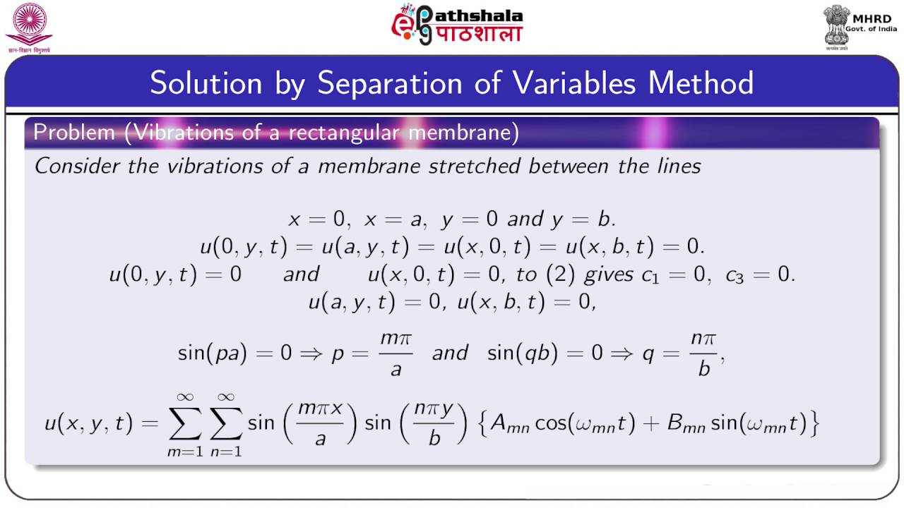 Two dimensional wave equation (Maths)