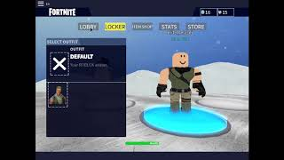 Playing fake Fortnite In Roblox
