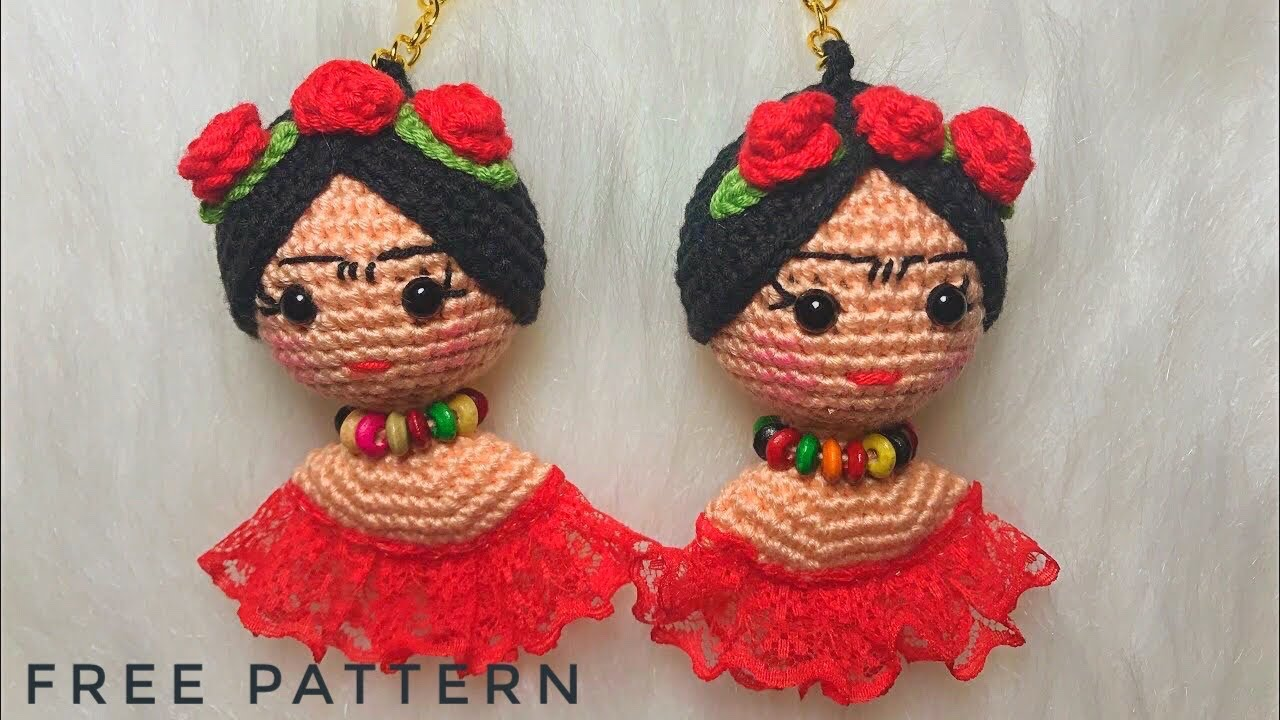 Leithygurumi: Amigurumi Keychain Doll Free English Pattern Design ... | 720x1280