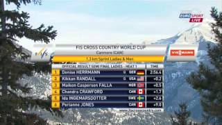 Cross-Country Skiing World Cup - 2012-12-15, Canmore, Sprint F