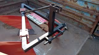плуг  двухкорпусний для мінітрактора щ мотоблока