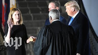 Amy Coney Barrett sworn in by Justice Clarence Thomas