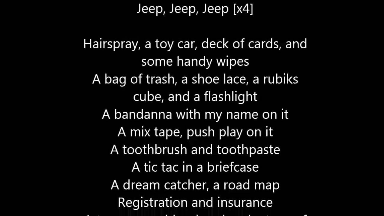 The Lonely Island - Things In My Jeep Lyrics - YouTube