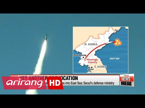 N. Korea fires three ballistic missiles into East Sea: Seoul's defense ministry