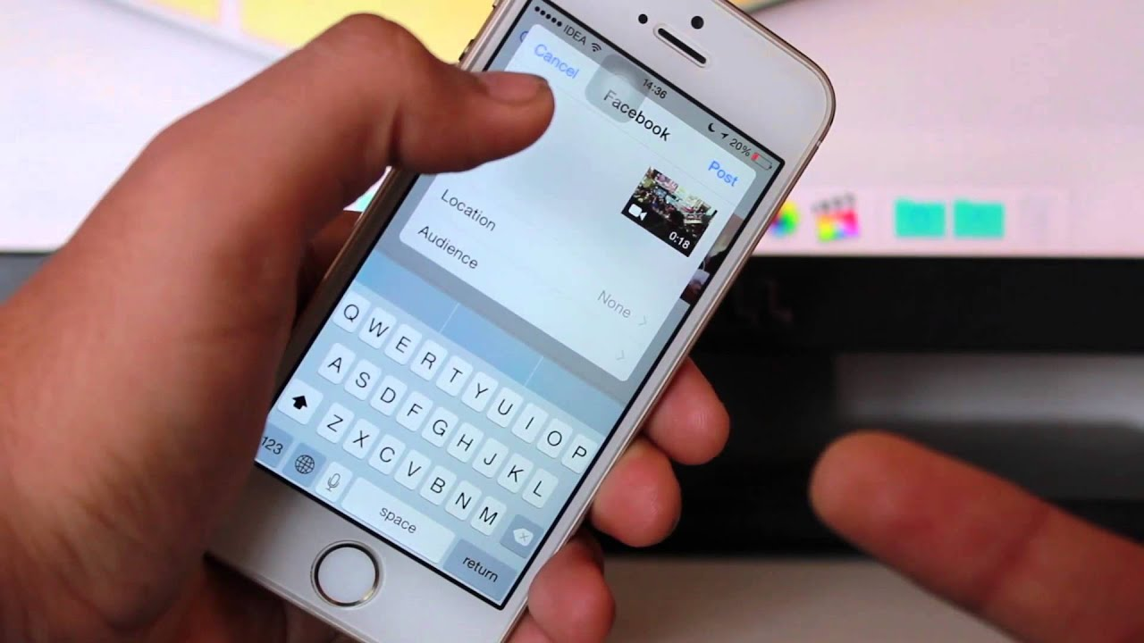 how to upload videos from iphone to facebook on ios 8 youtube