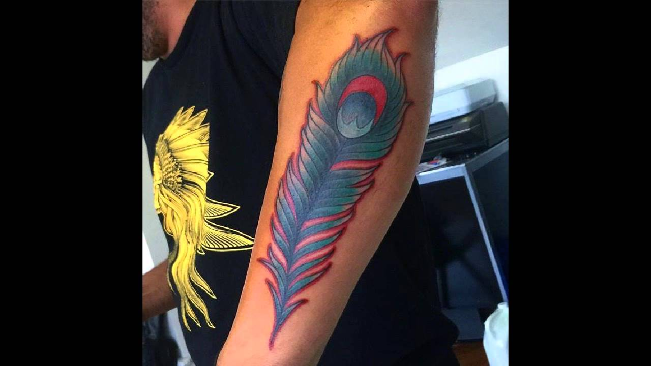 Peacock feather tattoo sleeve