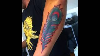35 Colorfull Peacock Feather Tattoos