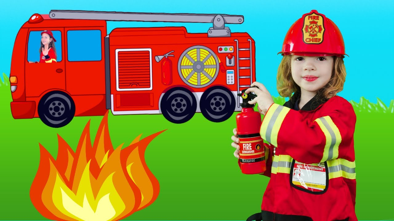 Firefighter Song for Kids - Fire Truck Song | Kids song by Kids Music Land
