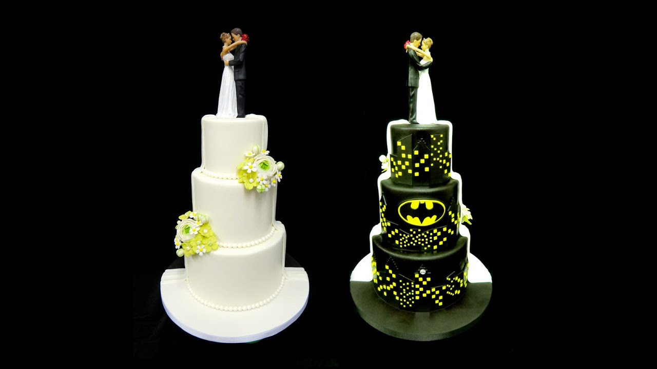 Half Superhero Wedding Cake