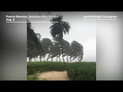 Tropical storm Franklin makes landfall on Mexico's coast