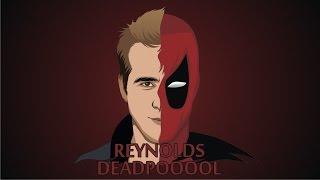 Drawing Ryan Reynolds as Deadpool in CorelDraw