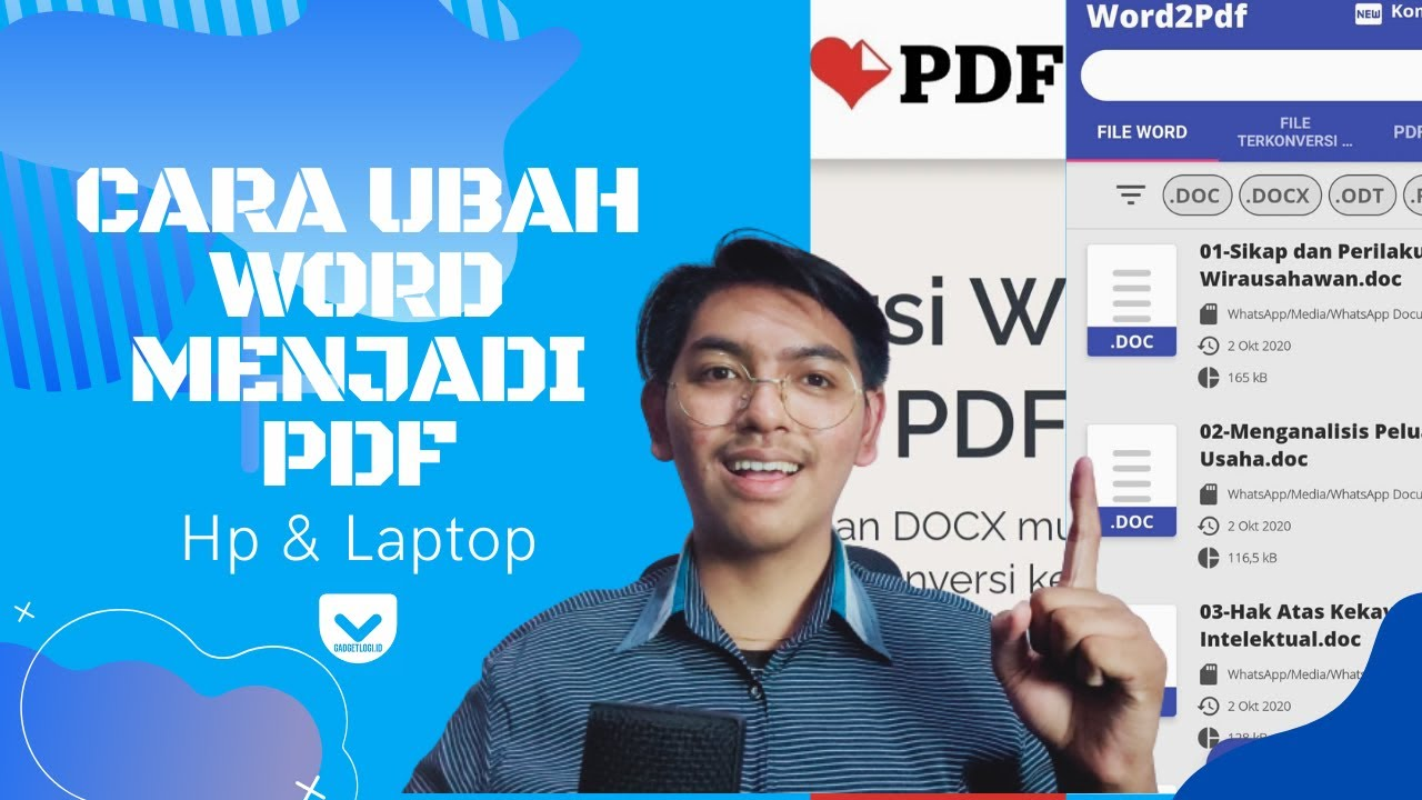 3 Cara Mengubah Word Ke Pdf Di Laptop Dan Hp Gadgetlogi Id