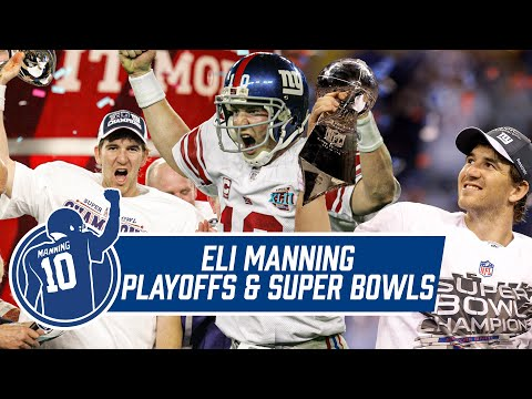 BEST of Eli Manning's Playoff and Super Bowl Moments | Eli Manning Retirement
