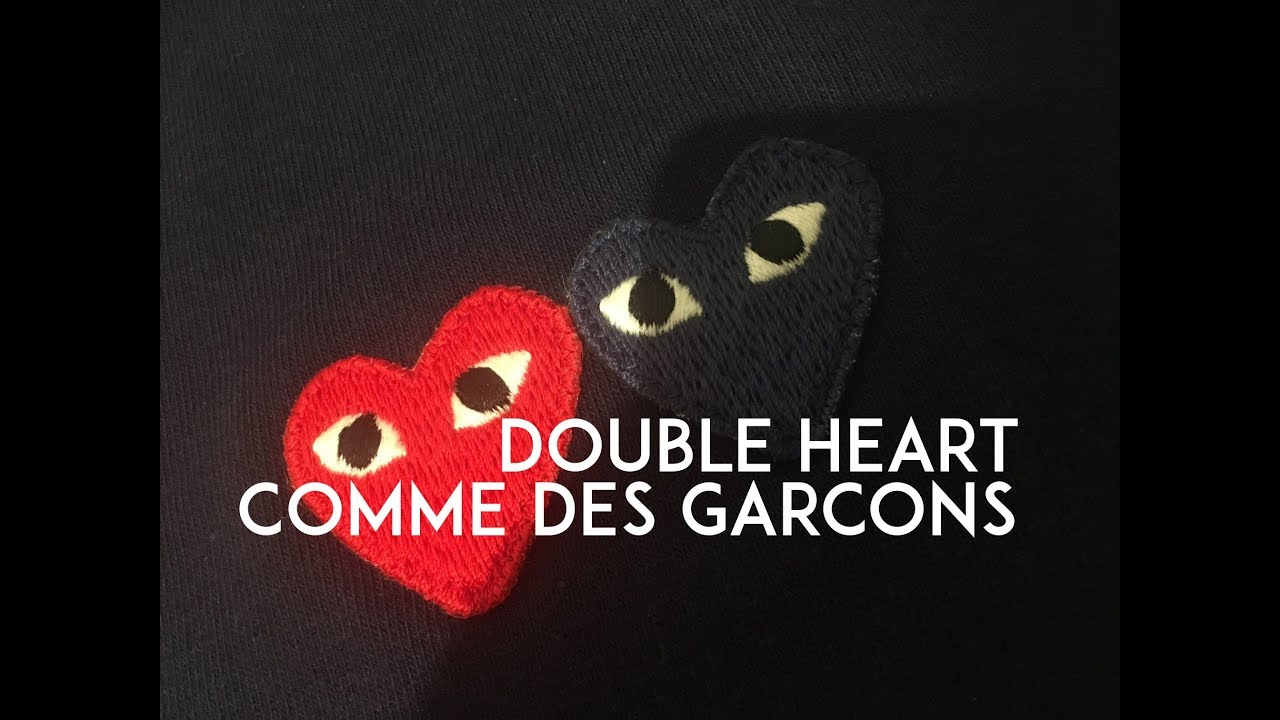 1bdd83e13de8 Comme Des Garcons Double Heart T-Shirt - YouTube