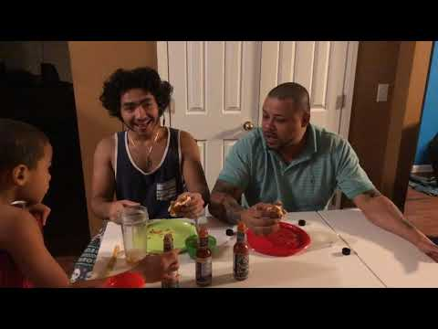 FIRE BURGER CHALLANGE WITH THE FAMS PART 1