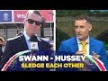 Hussey and Swann take a dig at each other