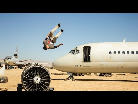 Freerunners Take Over Airplane Graveyard