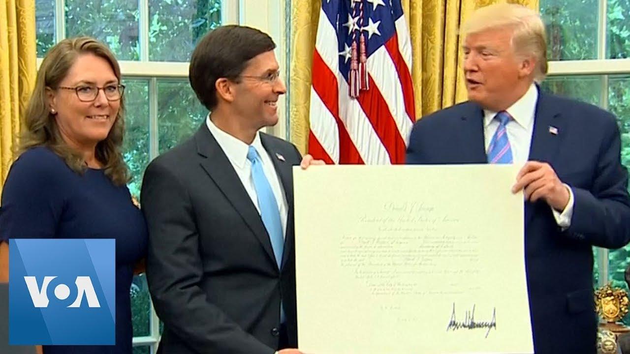 Former Defense Lobbyist Mark Esper Confirmed as New Defense Secretary