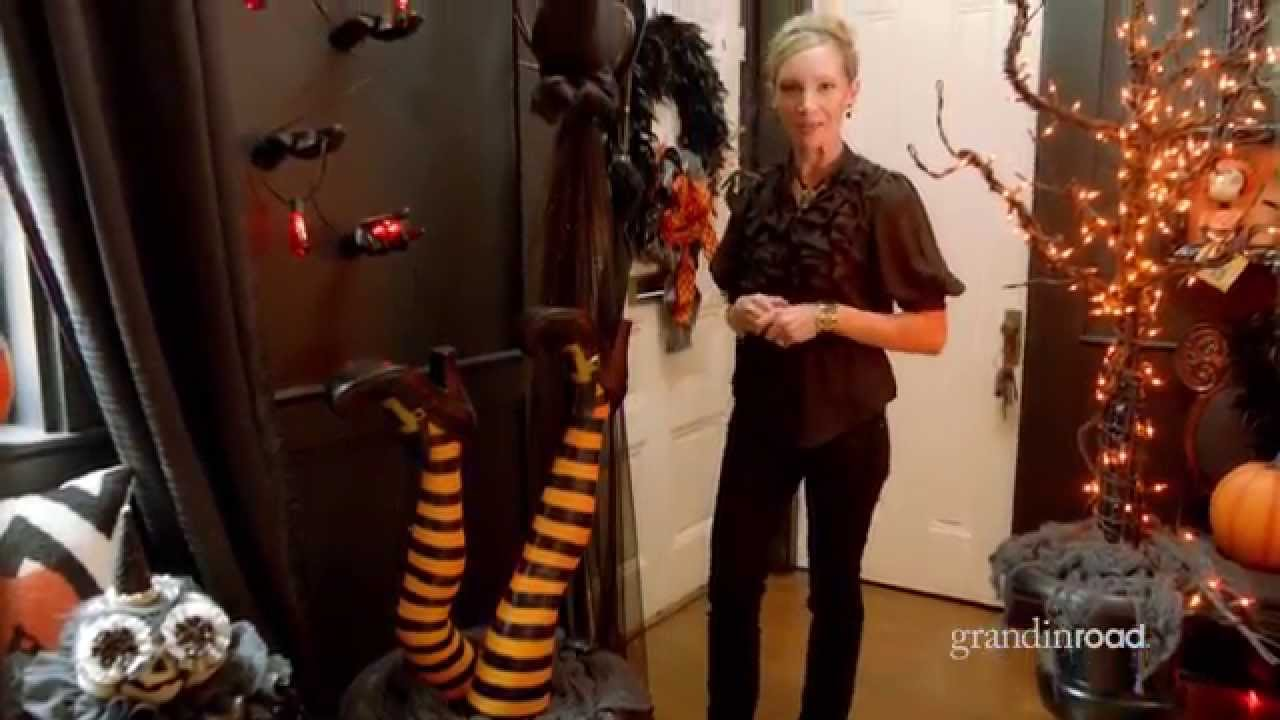 how to decorate an entryway for halloween grandin road youtube - Grandin Road Halloween
