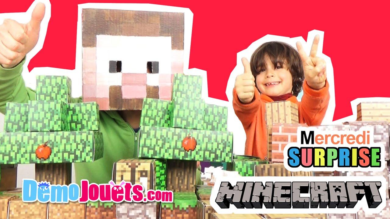 Papercraft Minecraft papercraft 3 sets : Pack Deluxe & Kit abri & Créatures hostiles - Démo jouets