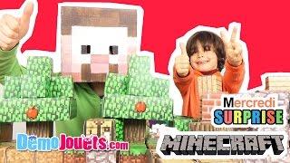 Minecraft papercraft 3 sets : Pack Deluxe & Kit abri & Créatures hostiles - Démo jouets