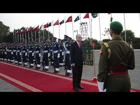 Cumhurbaşkanı Erdoğan, Pakistan'da resmi törenle karşılandı