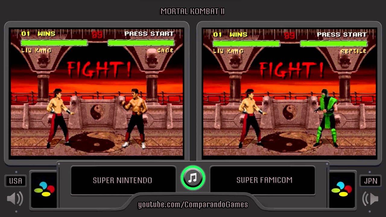 Regional Differences 02 Mortal Kombat Ii Super Nintendo